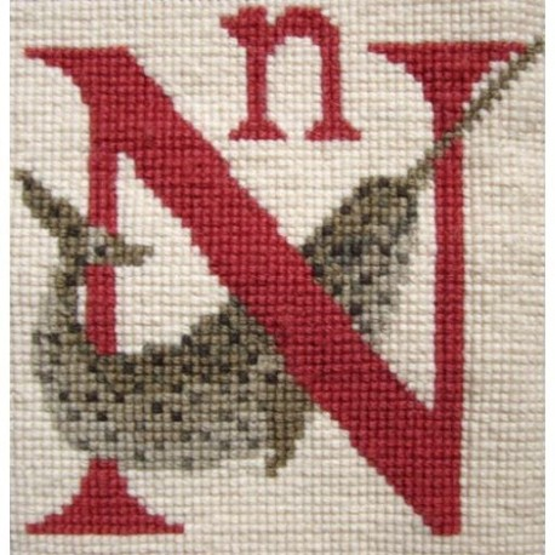 Elizabeth Bradley, Animal Alphabet, N - NARWHAL - 6x6 pollici