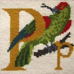 Elizabeth Bradley, Animal Alphabet, P - PARROT - 6x6 pollici
